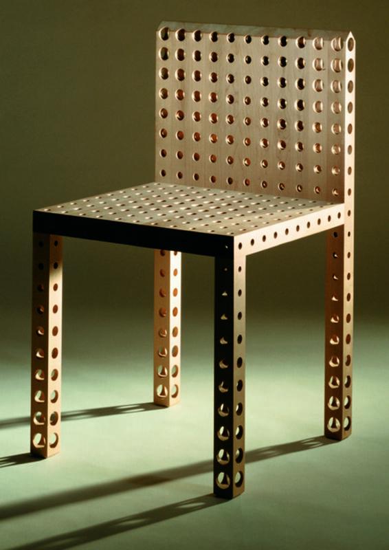 "Gijs Bakker, 'Chair ""Holes""', 1989, Design/Decorative Art, Maple wood, Caroline Van Hoek"