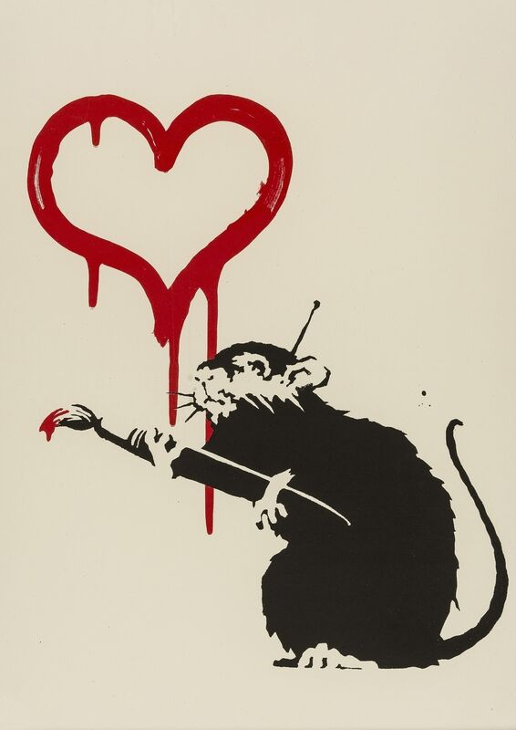 Banksy, 'Love Rat', 2004, Print, Screenprint in colours, Forum Auctions