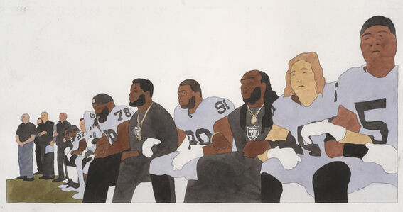 Kota Ezawa, 'National Anthem (Oakland Raiders)', 2019