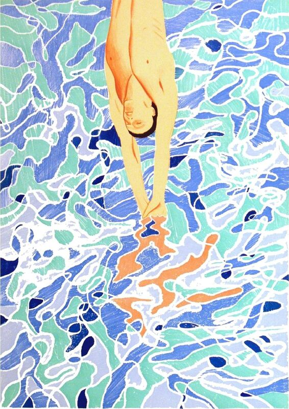 David Hockney, 'The Diver', 1972, Print, 1972 Olympic Games original Poster, AYNAC Gallery