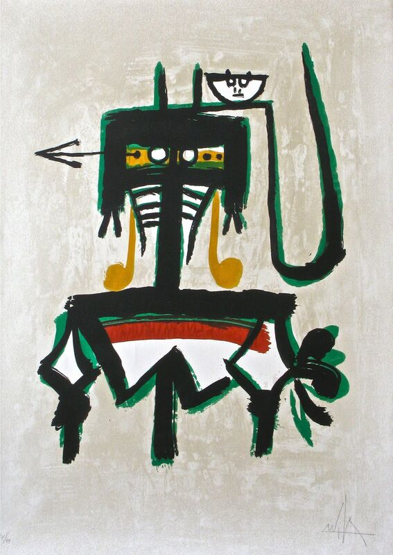 Wifredo Lam, 'Barcelona (with green)', 1976, Print, Lithograph, MLA Gallery