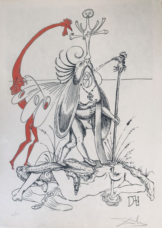 Salvador Dalí, 'The Carnivorous Fly', 1973, Drawing, Collage or other Work on Paper, Lithograph, Dali Paris