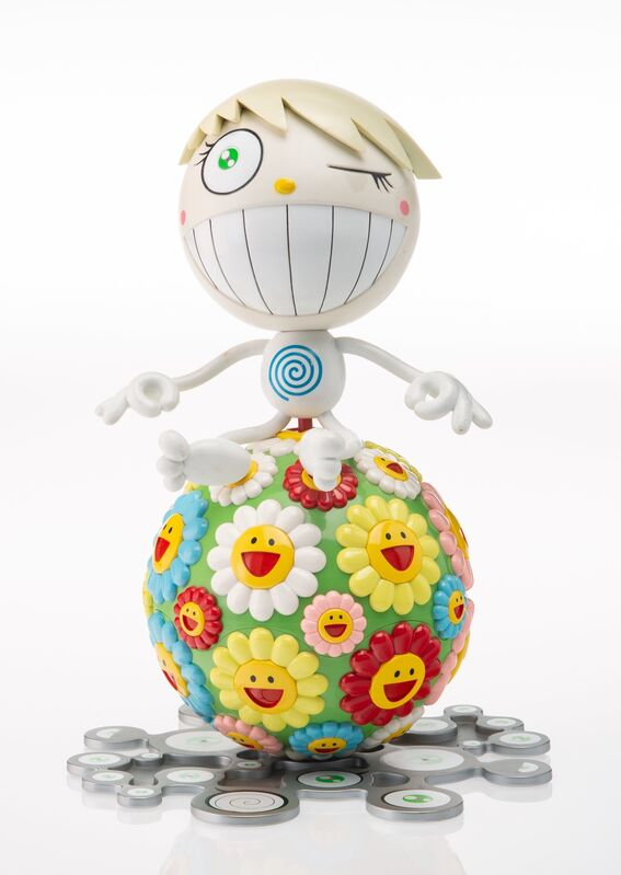 Takashi Murakami, 'Mister Wink, Cosmos Ball', 2000, Sculpture, Painted cast vinyl with mini CD, Heritage Auctions