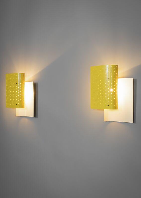 Michel Buffet, 'Pair of sconces B205', 1952, Design/Decorative Art, Lacquered metal and golden bronze, Galerie Pascal Cuisinier