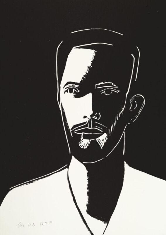 Alex Katz, 'Alex Katz, Daniel (Black and White)', 2016, Print, Woodblock on fine art paper, Oliver Cole Gallery