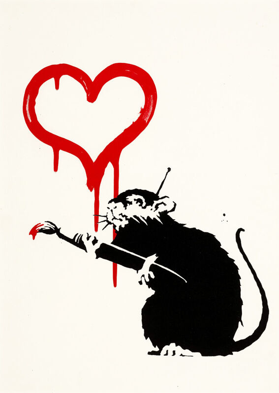 Banksy, 'Love Rat - Unsigned', 2004, Print, Screen print on paper, Hang-Up Gallery