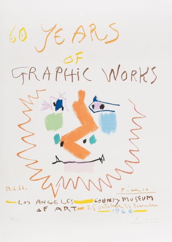 Pablo Picasso, '60 Years of Graphic Works (Mourlot 406)', 1966, Print, Lithograph printed in colours, Forum Auctions