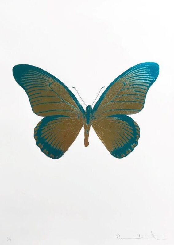 Damien Hirst, 'The Souls IV - Oriental Gold Turquoise', 2010, Print, Foilblock print, Kunsthuis Amsterdam