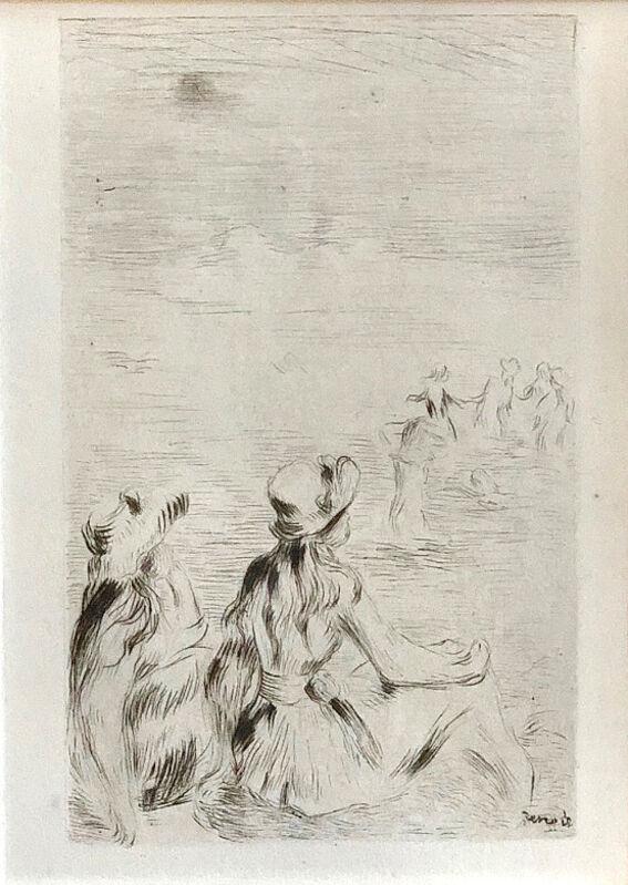 Pierre-Auguste Renoir, 'Sur La Plage, A Berneval', 1919, Print, Original drypoint etching in black, Galerie d'Orsay