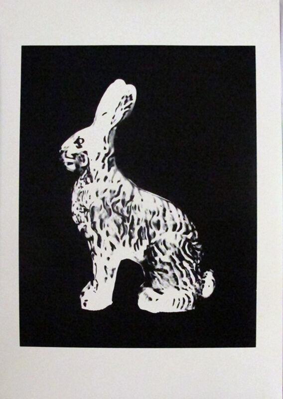 Andy Warhol, 'Chocolate Bunny', 1983, Print, Unique screenprint on Stonehenge Grey paper, Hamilton-Selway Fine Art