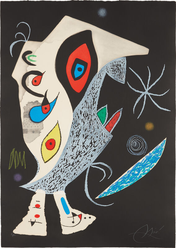 Joan Miró, 'Barbare dans la nuit (Barbarian in the Night)', 1976, Print, Etching and aquatint in colors, on Arches paper watermark Maeght, the full sheet., Phillips