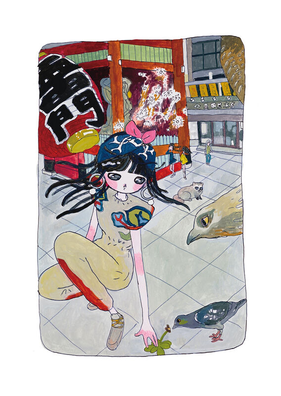 Aya Takano, 'Deep-Connecting with Nature', 2020, Print, Archival Pigment Print + Silkscreen, Pinto Gallery
