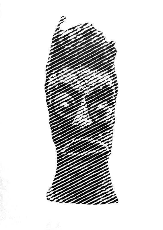 Ian Kuali'i, 'Akua Hulu Manu/Feathered God #2', 2018, Drawing, Collage or other Work on Paper, Cut paper, Hecho a Mano