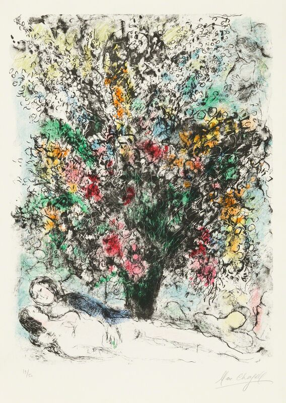 """Marc Chagall, 'Multiflore', 1974, Print, Original lithograph printed in colors on wove paper bearing the """"ARCHES / FRANCE"""" watermark., Christopher-Clark Fine Art"""