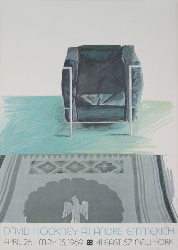 David Hockney, 'Corbusier Chair and Rug (sm)', 1969, Ephemera or Merchandise, Offset Lithograph, ArtWise
