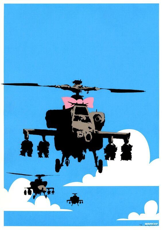Banksy, 'Happy choppers', 2003, Print, Gallery 211