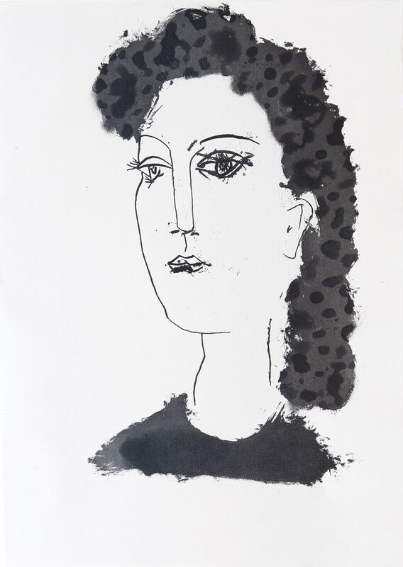 Pablo Picasso, 'Head of a Woman', 1948, Print, Etching, Goldmark Gallery