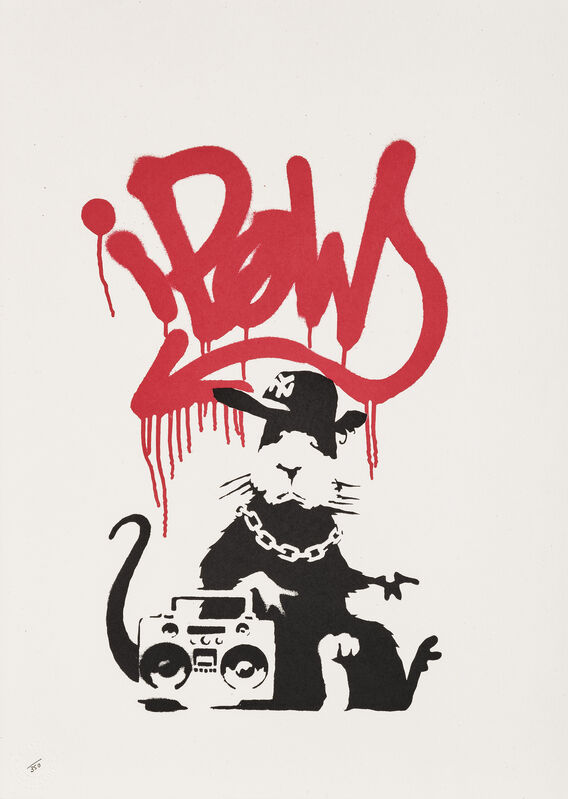 Banksy, 'Gangsta Rat', 2004, Print, Screenprint in colours on wove paper, Tate Ward Auctions