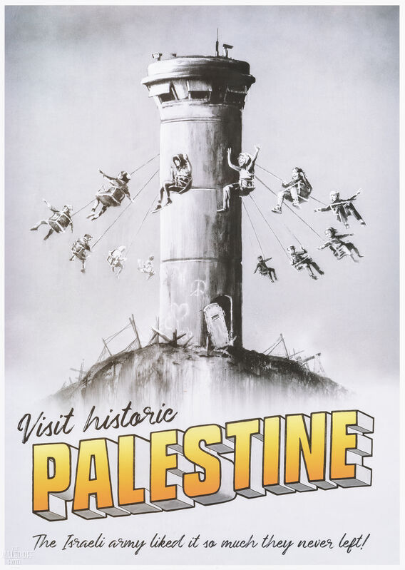 Banksy, 'Visit Historic Palestine', 2018, Print, Offset lithograph in colours on paper, Tate Ward Auctions