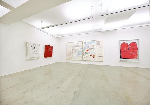 WORDS ARE ALL WE HAVE: PAINTINGS BY JEAN-MICHEL BASQUIAT, installation view