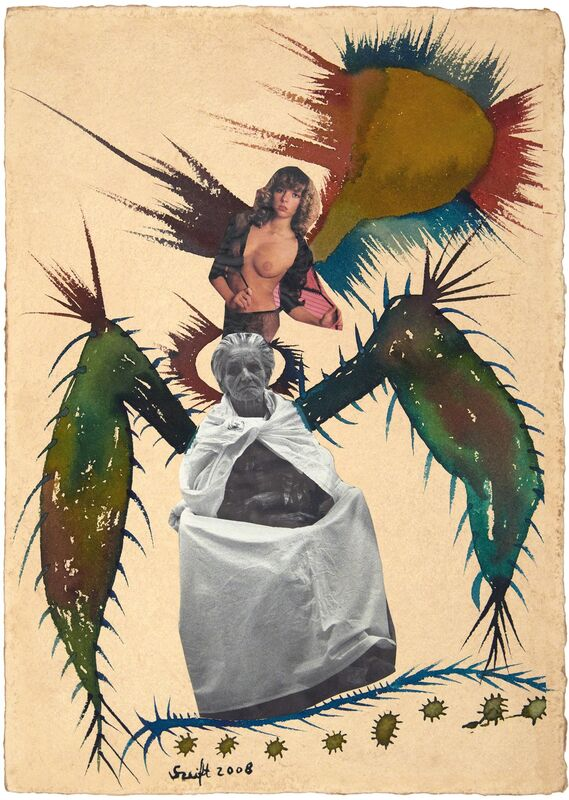 Bela Szeift, 'Soaring', 2008, Drawing, Collage or other Work on Paper, Mixed media-watercolor,ink, collage on paper, FRED.GIAMPIETRO Gallery