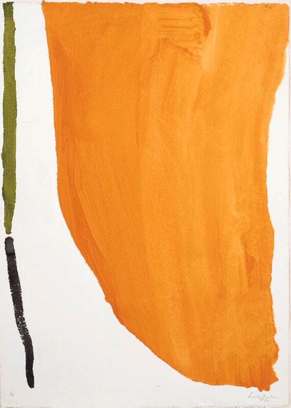 Helen Frankenthaler, 'Orange Down Pour', 1970, Drawing, Collage or other Work on Paper, Pochoir, Nikola Rukaj Gallery