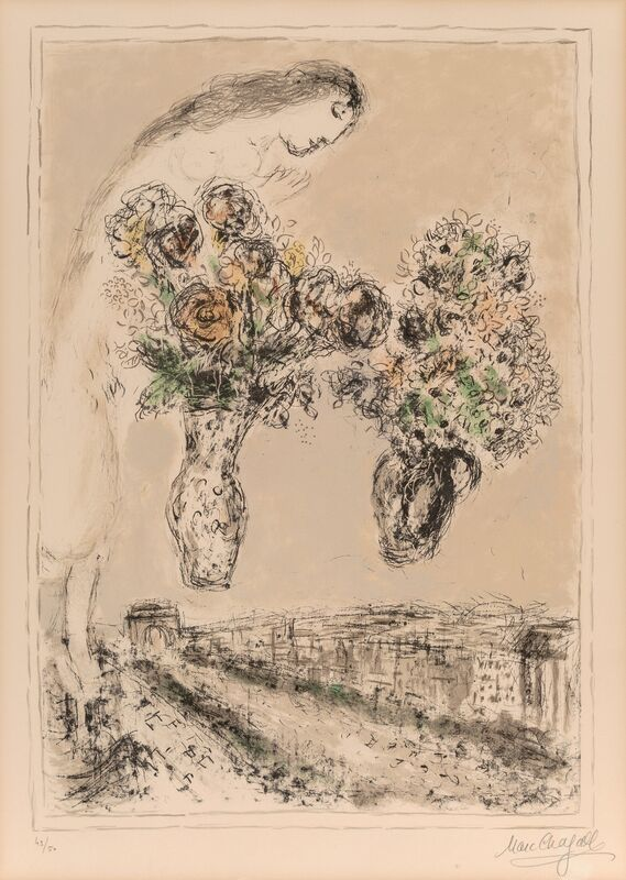 Marc Chagall, 'Arc de Triomphe', 1976, Print, Lithograph in colors on wove paper, Heritage Auctions