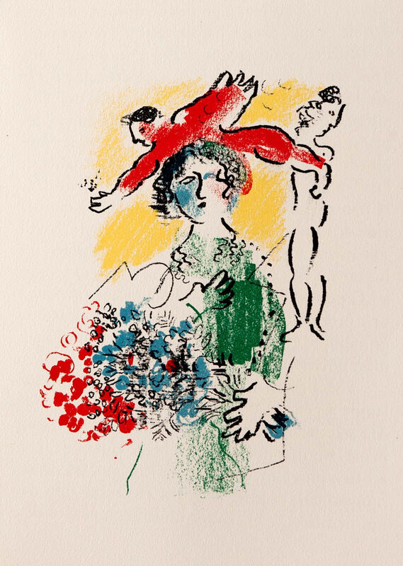 Marc Chagall, 'Lady with Bouquet I', 1976, Print, Lithograph, Goldmark Gallery