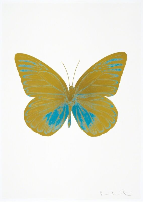 Damien Hirst, 'The Souls I - Oriental Gold - Topaz', 2010, Print, Two Colour Foil Block Print, Samuel Owen Gallery