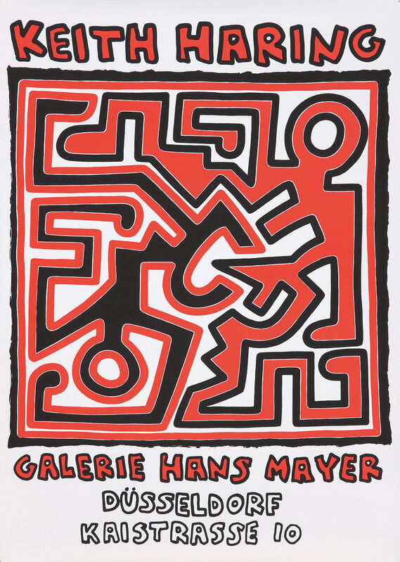 Keith Haring, 'Keith Haring Galerie Hans Mayer Düsseldorf 1988 ', 1988, Posters, Silkscreened exhibition poster, Lot 180