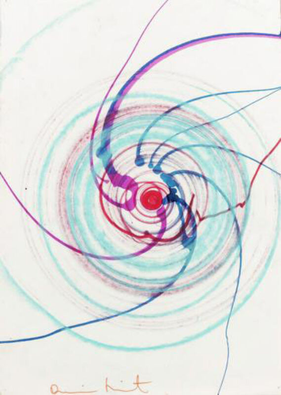 Damien Hirst, 'Untitled (Spin Painting)', n.d., Drawing, Collage or other Work on Paper, Watercolour and coloured crayon on paper, Omer Tiroche Gallery