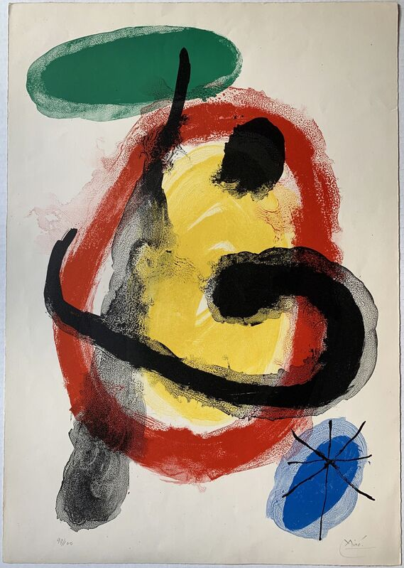 Joan Miró, 'Exposition Peintures Murales', 1961, Print, Color lithograph on cream wove paper, Puccio Fine Art