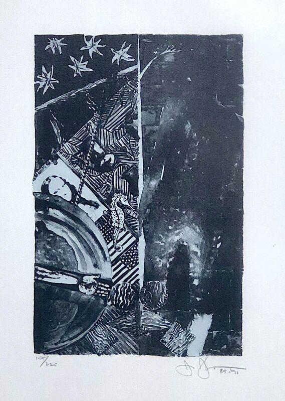 Jasper Johns, 'Summer (Blue)', 1985-1991, Print, Lithograph on pale grey J.Whatman paper, Woodward Gallery