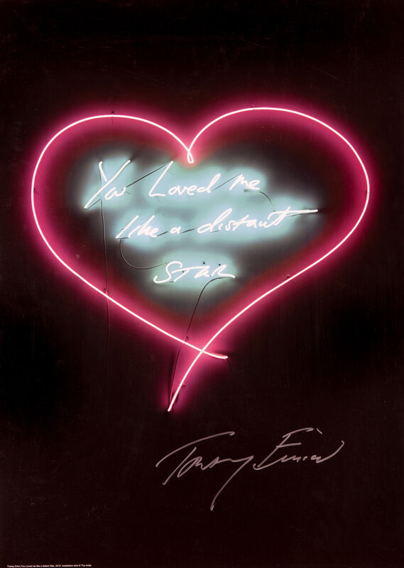 Tracey Emin, 'You Loved me Like A Distant Star', 2016, Print, Offset lithograph in colours on 250 gsm silk finish paper, Tate Ward Auctions