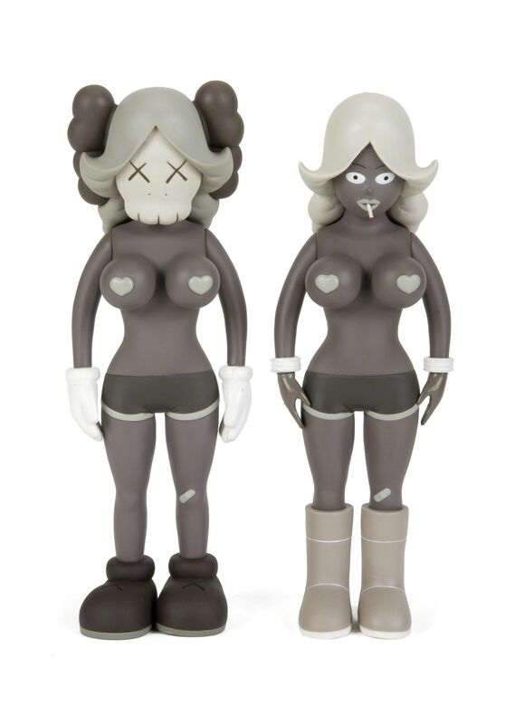 KAWS, 'The Twins (Grey)', 2006, Sculpture, Painted cast vinyl figures (2), Julien's Auctions