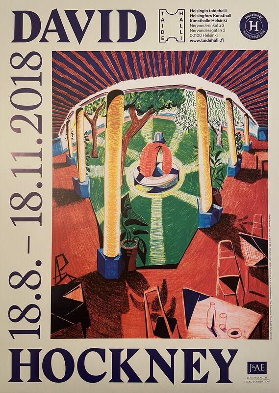 David Hockney, 'Kunsthalle Helsinki Major David Hockney Museum Exhibition Poster (Long Sold Out)', 2018, Ephemera or Merchandise, Original Lithographic Museum Exhibition Poster, David Lawrence Gallery