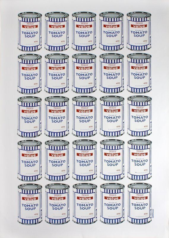 Banksy, 'Tesco Value Soup Cans', 2006, Print, Offset lithograph, Dope! Gallery Gallery Auction