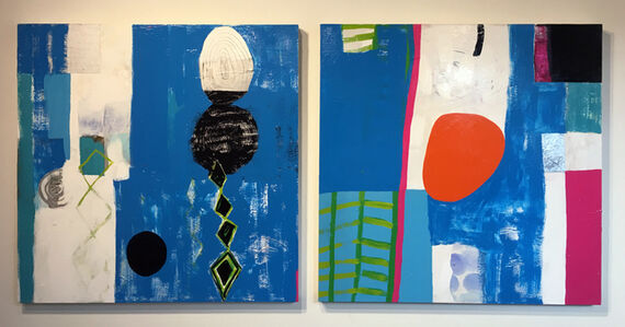 Michaele LeCompte, 'Untitled (blue diptych)', 2018