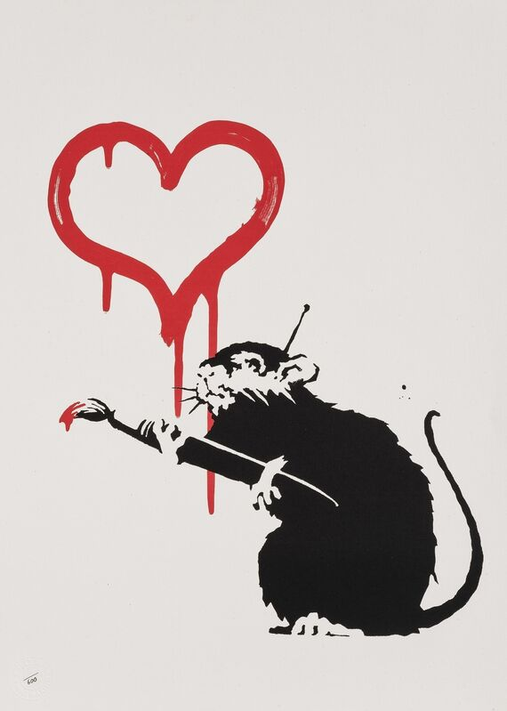 Banksy, 'Love Rat', 2004, Print, Screenprint in colours on wove paper, Tate Ward Auctions