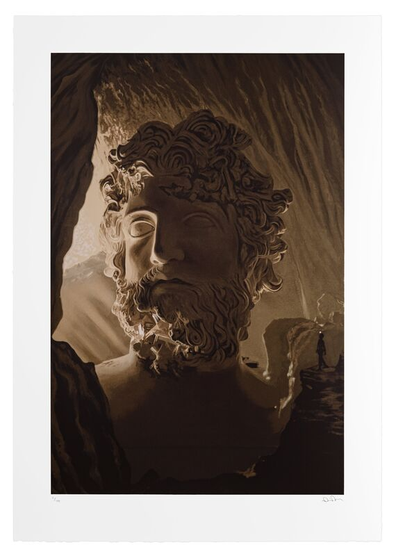 Daniel Arsham, 'Tropical Cave of Zeus', 2021, Print, Sepia chiaroscuro technique over 28 individual silkscreens on 100% archival cotton paper, Ransom Art