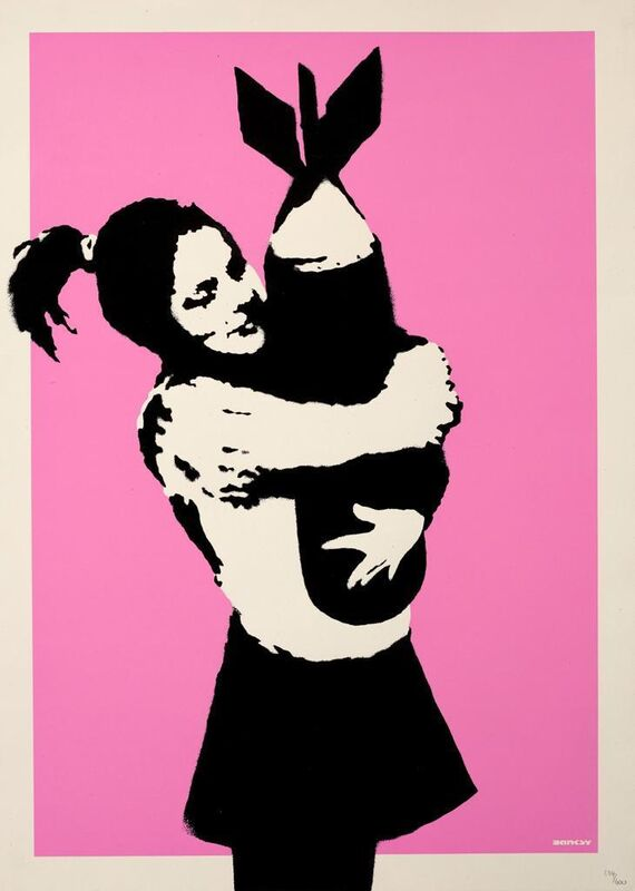 Banksy, 'Bomb Love', 2003, Print, 2 colors screenprint on wove paper with full margins, Area Consulting