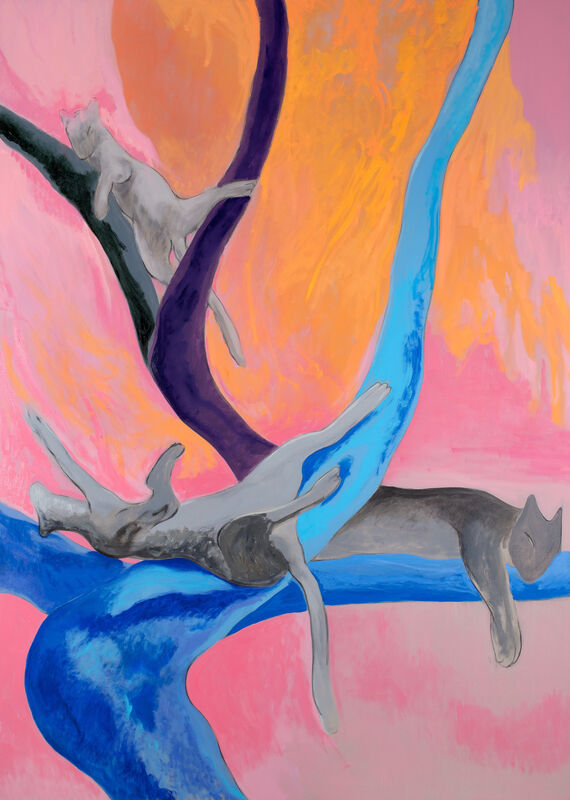 Paolo Salvador, 'El árbol de los gatos', 2021, Painting, Oil on linen, Peres Projects