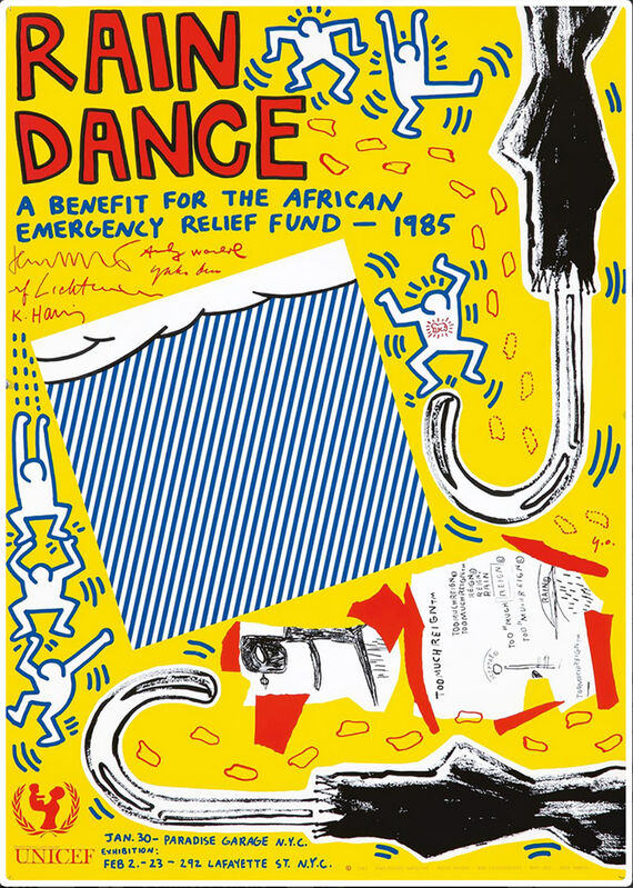 Andy Warhol, 'Rain Dance 1985 poster ', 1985, Posters, Offset lithograph, Lot 180