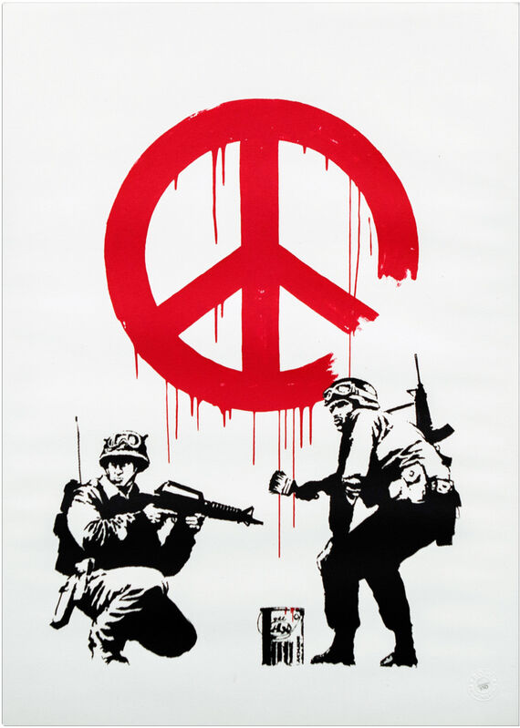Banksy, 'CND Soldiers', 2005, Print, Screenprint in colours on wove paper., HOFA Gallery (House of Fine Art)