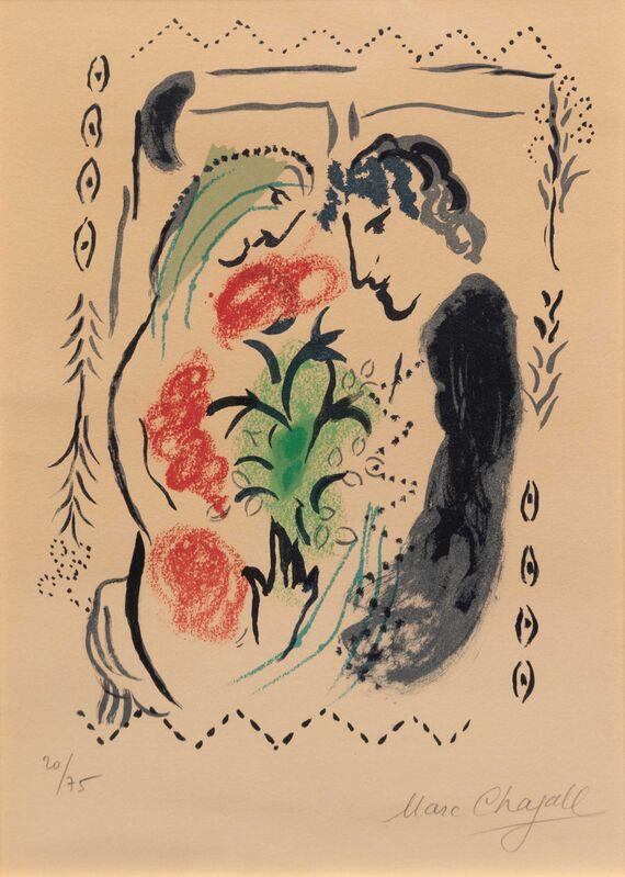 Marc Chagall, 'Pour Berggruen', 1965, Print, Color lithograph, Hindman