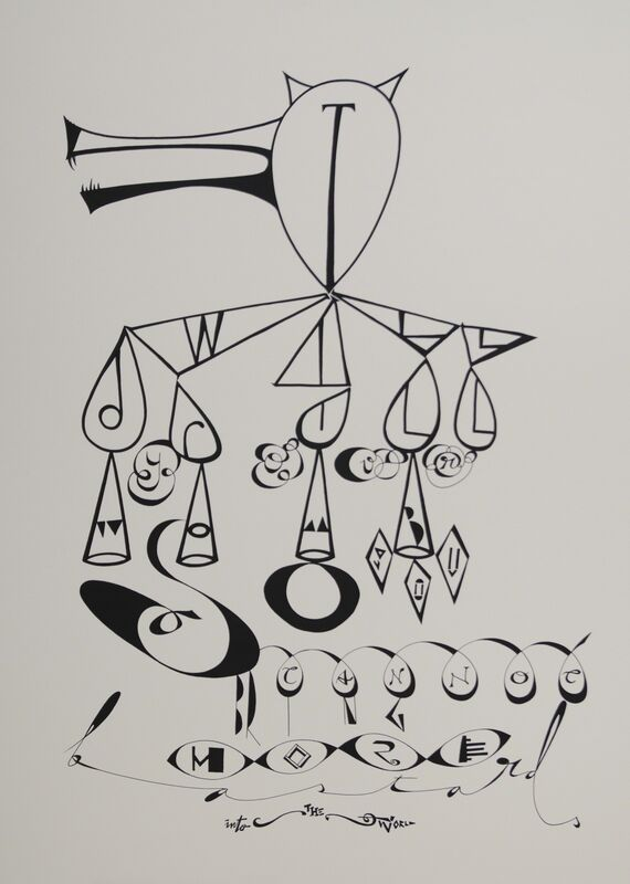 Memed Erdener a.k.a. Extrastruggle, 'I Will Drill Your Womb So You Cannot Bring More Bastards Into The World', 2015, Drawing, Collage or other Work on Paper, Acrylic on paper, Zilberman Gallery