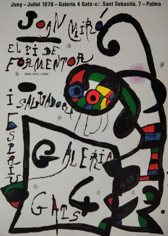 Joan Miró, 'Lithographic poster - El pi de Formentor i Salvador Espriu, 1976', 1976, Posters, Paper, promoart21