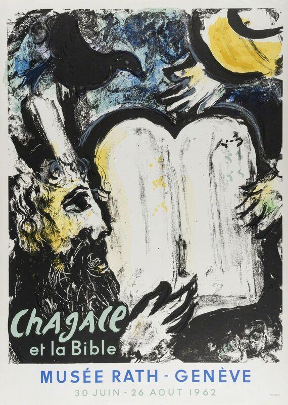 Marc Chagall, 'Moise et Les Tables de la Loi (Mourlot 362)', 1962, Print, Lithographic poster printed in colours, Forum Auctions