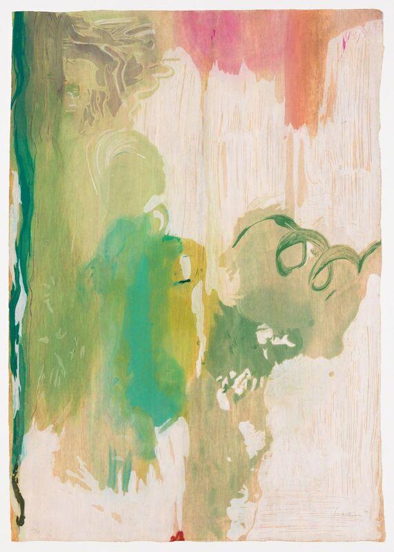 Helen Frankenthaler, 'Snow Pines', 2004, Print, Thirty-four color ukiyo-e woodcut, Pace Prints