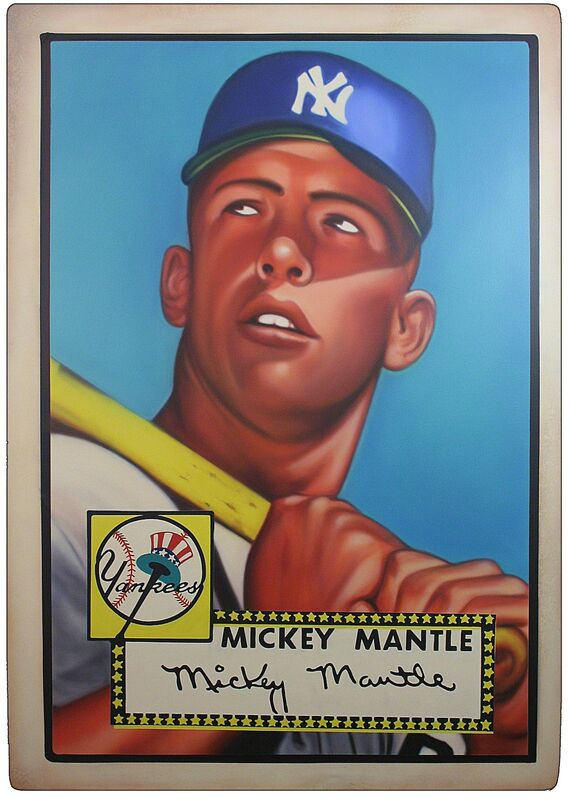 George Mead, '1952 Topps -  Mickey Mantle (Rookie Card)', 2017, Painting, Acrylic on PVC in Acrylic Case, Axiom Contemporary